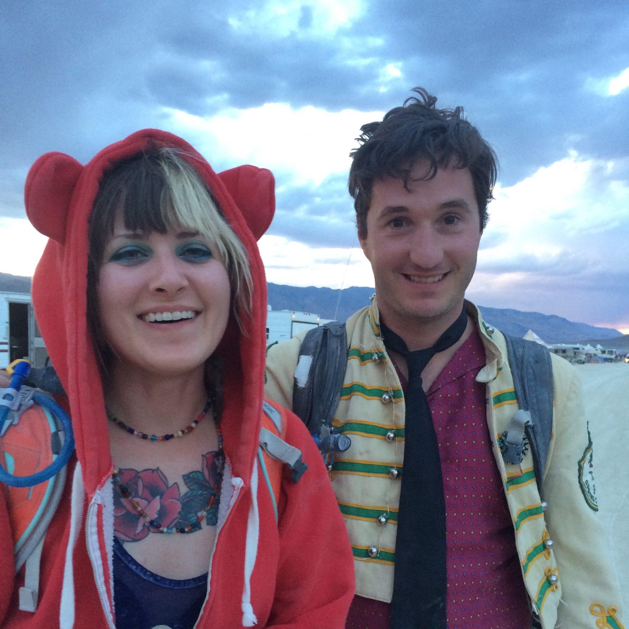 ridiculously happy at Burning Man