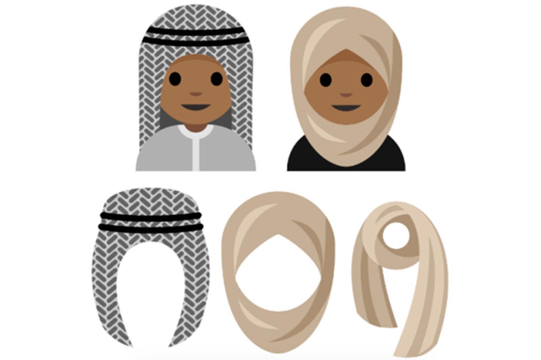 potential head scarf emojis, via The New York Times